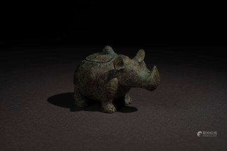 唐以前 青銅犀牛