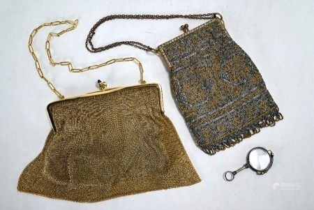 A pair of Edwardian evening purses