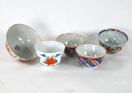 Five 18th and 19th century Chinese bowls, Qing dynasty