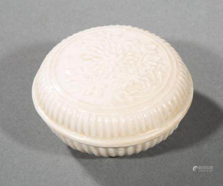"Chinese ""Blanc de Chine"" Porcelain Paste Box"