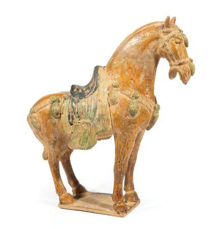Chinese Tang-Style Sancai Glazed Pottery Horse