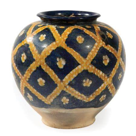 Chinese Tang-Style Sancai Glazed Pottery Jar