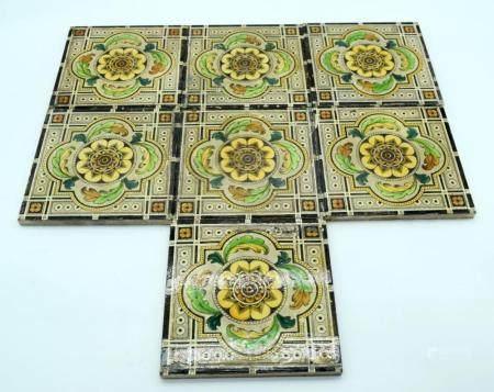 A collection of vintage Minton tiles 15 x 15cm (7)