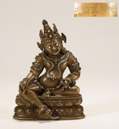 14th Century Bronze God of Wealth Statue
