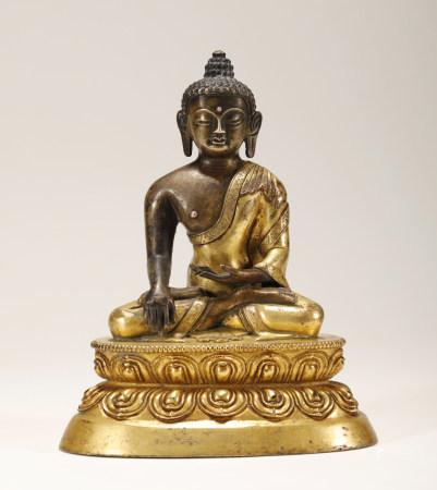 Ming Dynasty - Gilt Gautama Buddha Statue