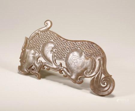 Warring State - Tiger Shape Jade Pendant