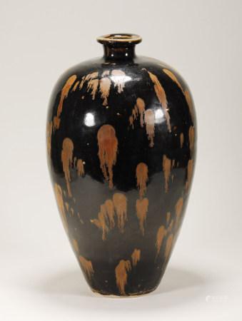 Song Dynasty - Black Glaze Plum Vase