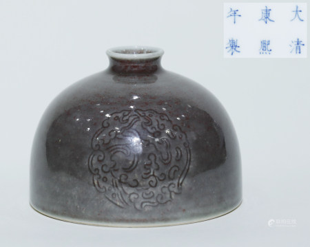 """Qing """"Kangxi"""" Colored and Patterned Jar"""