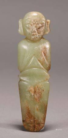Hongshan Culture - Carved Jade Figure