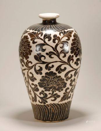 Song Dynasty - Cizhou Ware Plum Vase