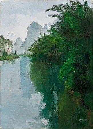 Wu Guanzhong 吳冠中 | Bamboo Forest of the Lijiang River 灕江竹林