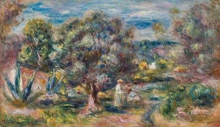 Pierre-Auguste Renoir 皮耶・奧古斯特・雷諾瓦 | Aloès, la cueillette à Cagnes 卡涅蘆薈採摘