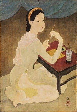 Mai Trung Thu 梅忠恕 | Lady Writing a Poem 作詩的仕女