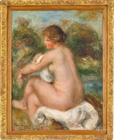 Pierre-Auguste Renoir 皮耶・奧古斯特・雷諾瓦 | La Baigneuse assise 沐浴的少女