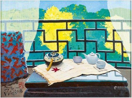 Pang Jiun 龎均 | Tea Room in Spring 茶房草色入簾青