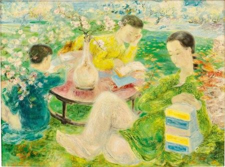 Le Pho 黎譜 | Mother and Children in a Garden 園中母子