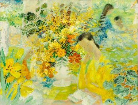 Le Pho 黎譜 | Composition 花園中的女子
