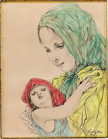 Léonard Tsuguharu Foujita 藤田嗣治 | Mère et enfant 母與子