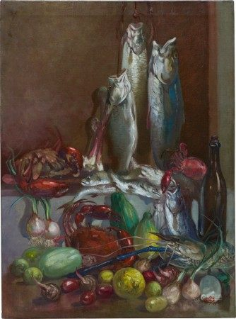 U Ngwe Gaing 伍巍芥 | Still Life with Fish 靜物與游魚