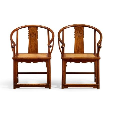 A pair of huanghuali horseshoe-back armchairs, quanyi Late Ming – early Qing dynasty | 明末至清初 黃花梨圈椅成對