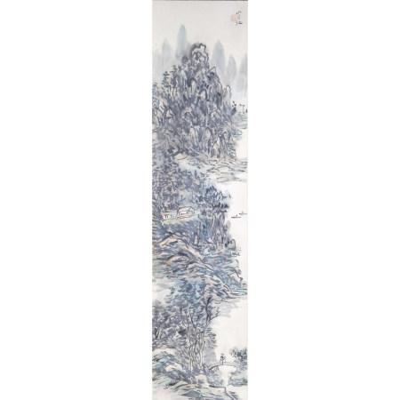 黄宾虹 山水纸本立轴