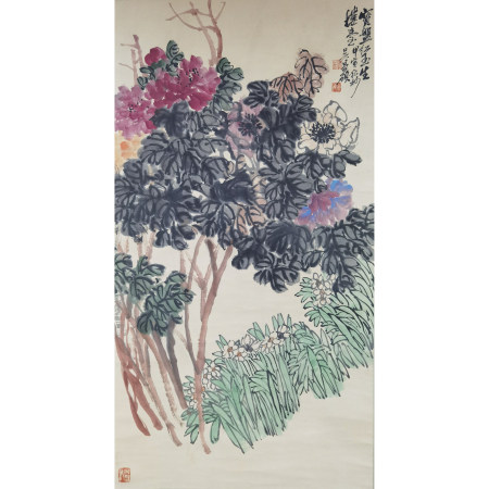 吴昌硕 花卉纸本立轴