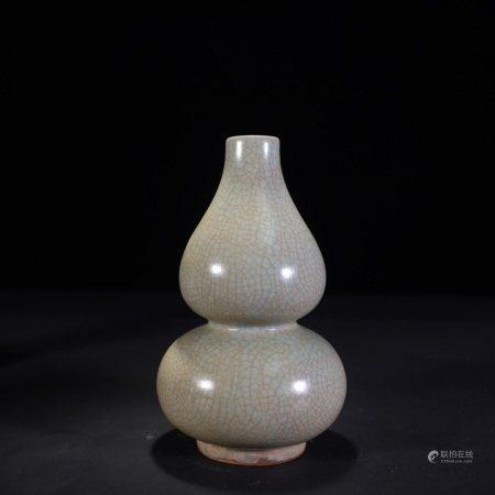 宋 哥釉葫芦瓶