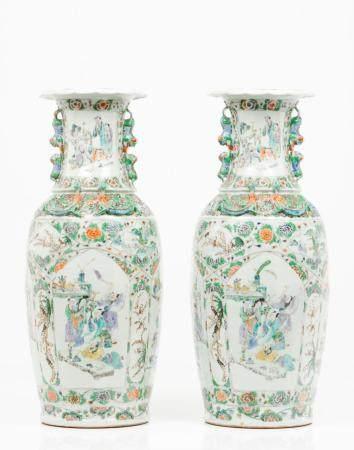 A pair of large pots