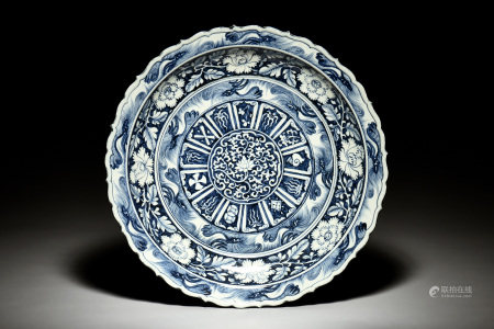 BLUE AND WHITE 'FLOWERS' CHARGER