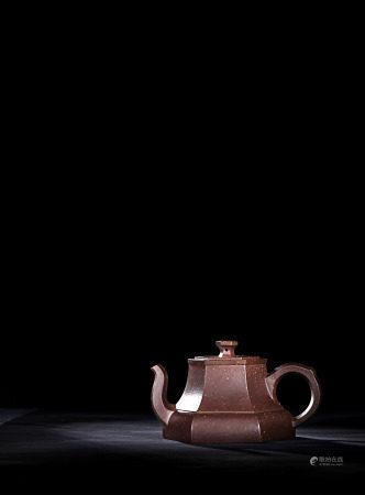現代 張紅華 紫砂六角高形壺