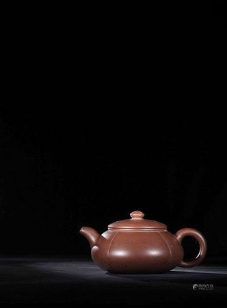民初 裴石民 紫砂菊蕾壺