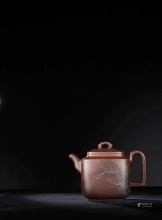 現代 顧佩倫 紫砂梅影壺