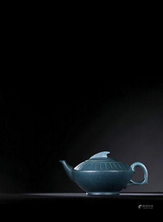現代 周桂珍 綠泥陶靈壺