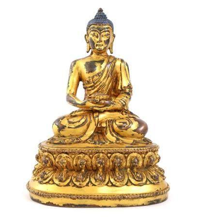 Bronze Buddha, Tibet 18th / 19th century, 15.5 cm high, 894 grams