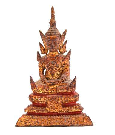 Thai bronze Buddha statue 12 cm high