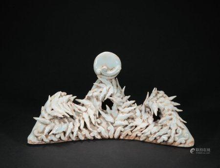 A celadon-glazed Shanzi penholder
