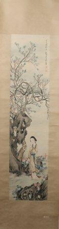 A Huang shanshou's figure painting