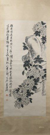 A Wu changshuo's flowers painting