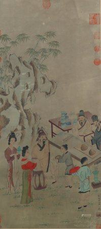 A Li gonglin's figure painting