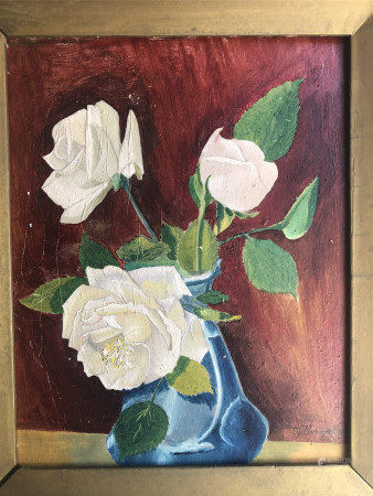 OIL PAINTING OF STILL LIFE ON BOARD SIGNED