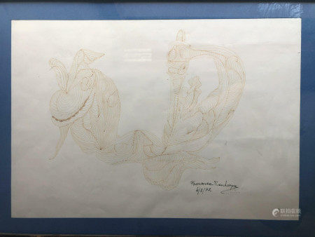 ETCHING ON PAPER SIGNED