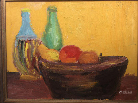 OIL PAINTING OF STILL LIFE ON CANVAS SIGNED
