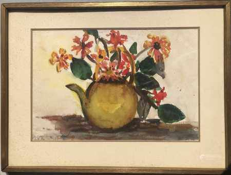 WATERCOLOR ON PAPER OF STILL LIFE SIGNED