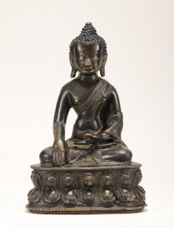 元代 铜释迦牟尼佛