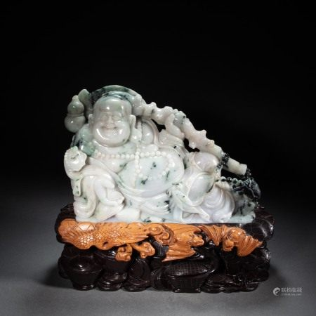 EMERALD MAITREYA BUDDHA, QING DYNASTY, CHINA
