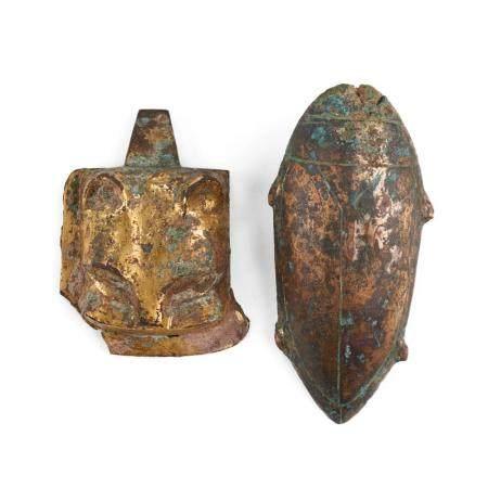 Grp: 2 Han Chinese Gilt Bronze Fittings