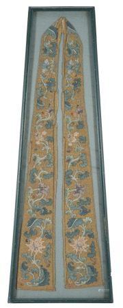 中國 十八/十九世紀 絲綢花卉紋緙絲繡