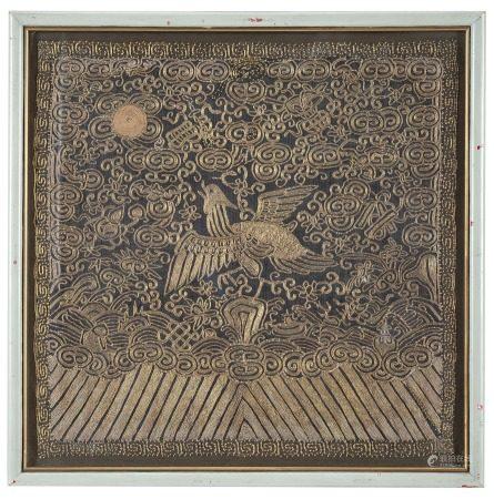 東方工藝 十九世紀 鳳凰圖刺繡