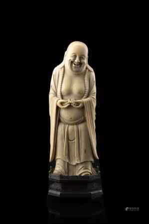 中國 十九世紀 象牙雕布袋立像