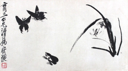 齐白石 兰花蝴蝶